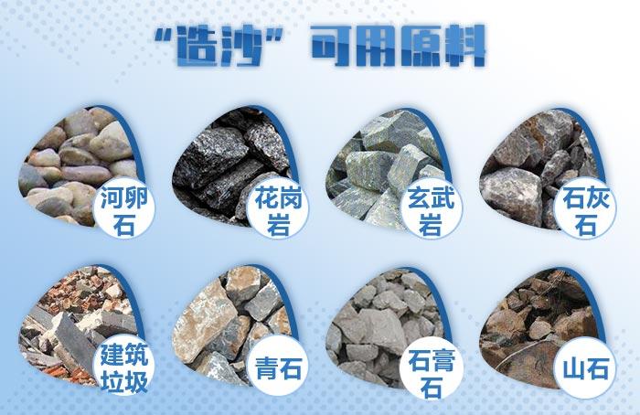 造沙常见原料