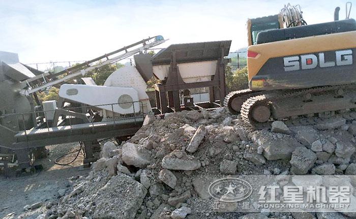 轮胎移动建筑垃圾处理设备