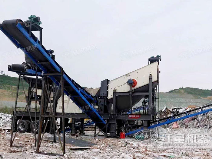 湖南流动反击式碎石机生产现场