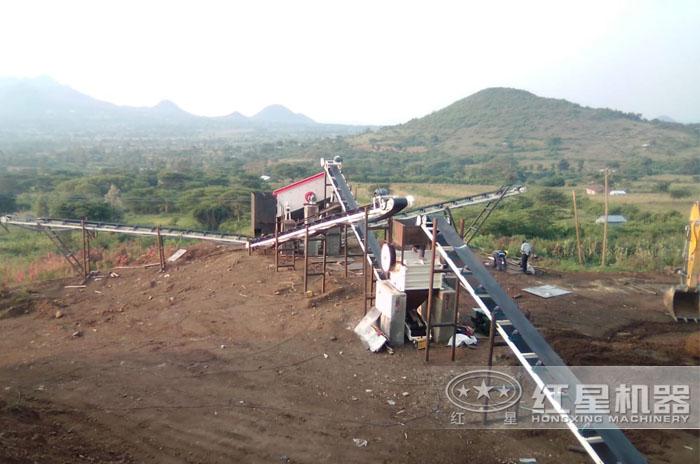 碎砂生产线现场