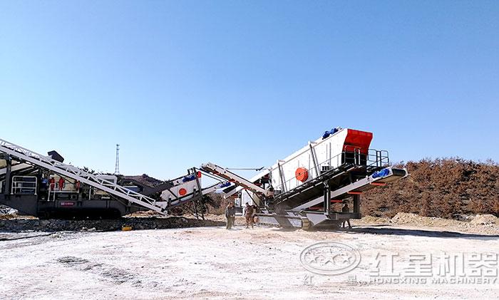 移动碎石机生产线多级组合生产