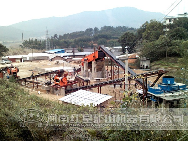 300吨玄武岩制砂生产线