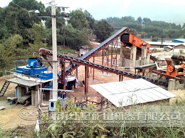 辽宁河卵石破碎生产线案例