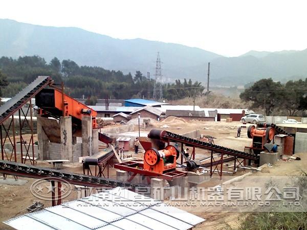 河卵石石料生产线