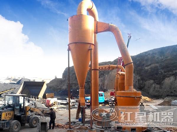 时产50-80吨磨粉机在现场
