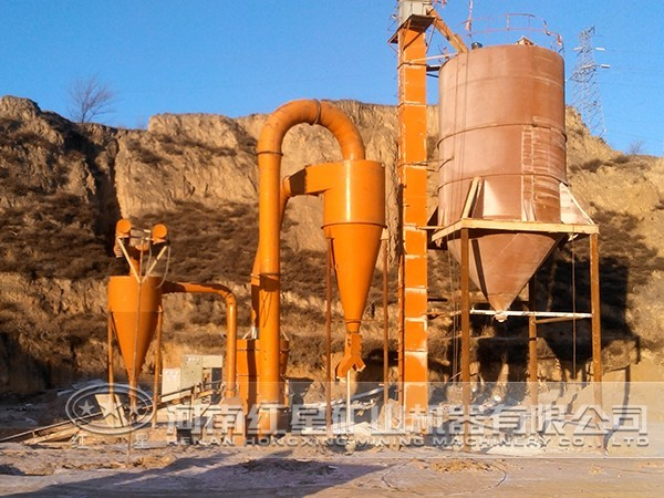 叶腊石磨粉生产线流程