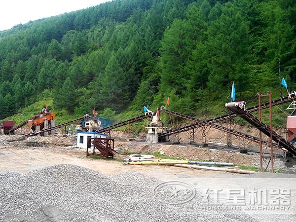 500-600t/h石英石制砂生产线环保生产