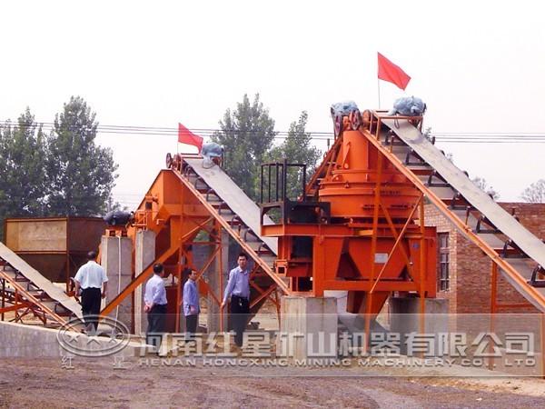 时产300吨玄武岩制砂生产线