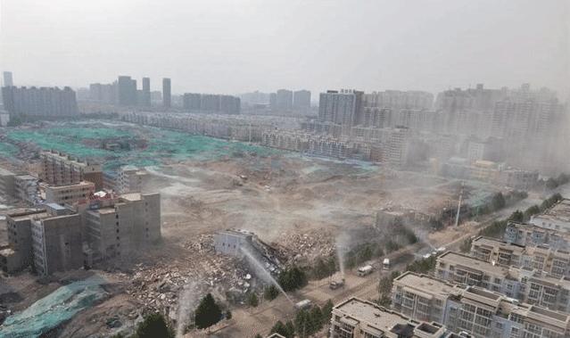郑州城中村拆除现场