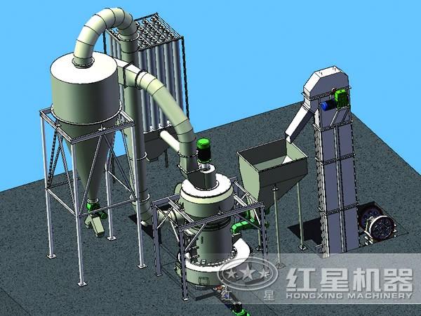 3250目超细磨粉机连续运转
