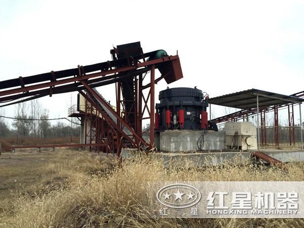 成套砂石生产线设备现场