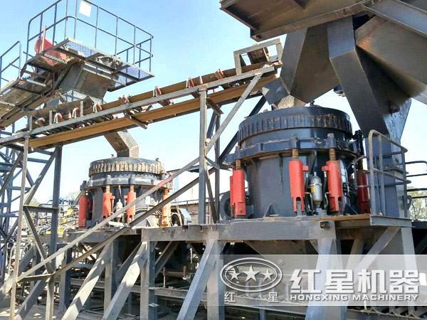 能耗量低的液压圆锥破碎机生产现场环保