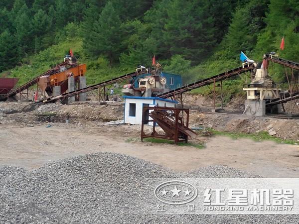 日产500方(约800吨)石子生产线现场