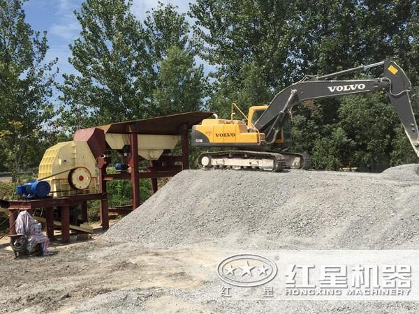 石子打砂机生产现场