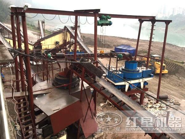 鹅卵石制砂生产线