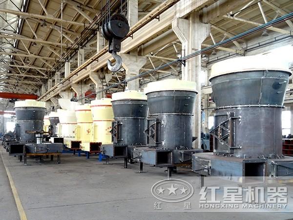 高压悬辊磨粉机安装试车