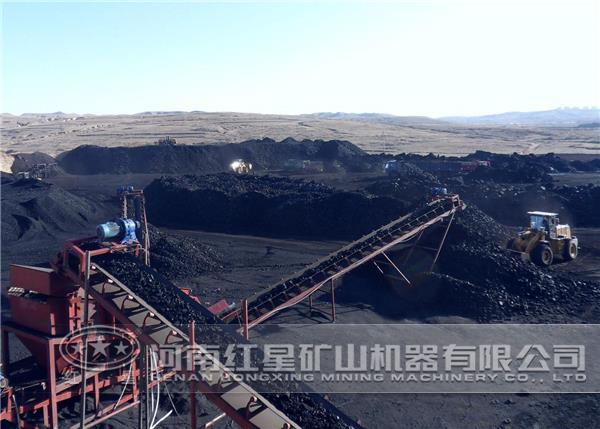 煤炭开采现场