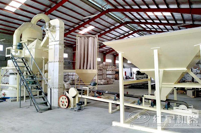 雷蒙磨粉机生产线现场