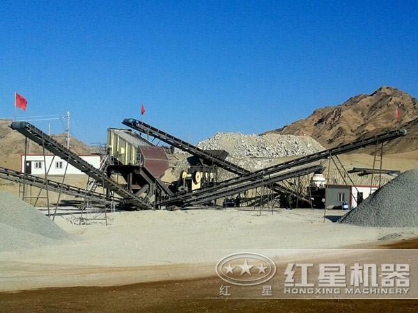 打砂生产线现场