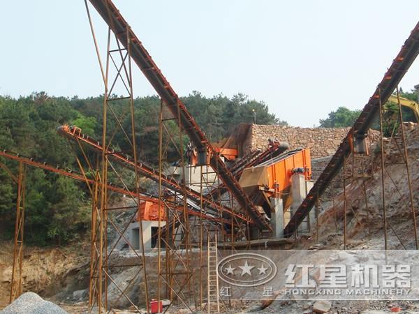 风化石制砂生产线现场