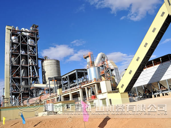 新型水泥生产线日产量
