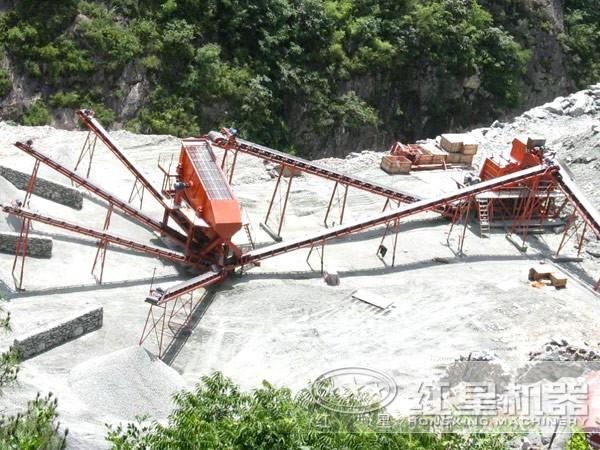 新型环保砂石生产线现场