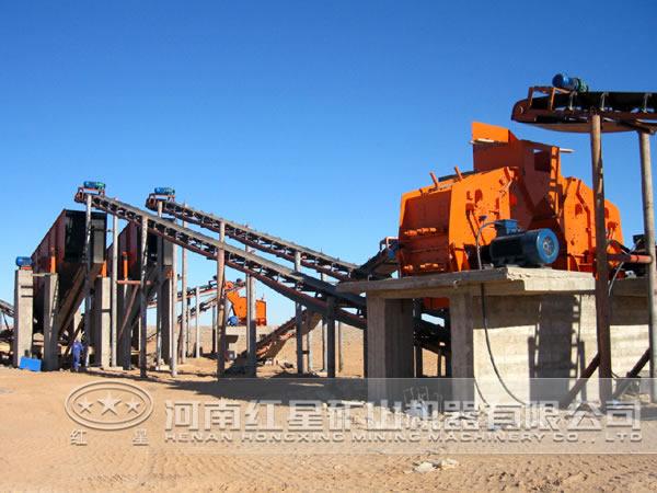 时产400吨花岗岩生产线