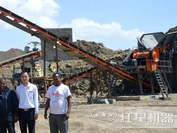 日产500方石子生产线售后维修