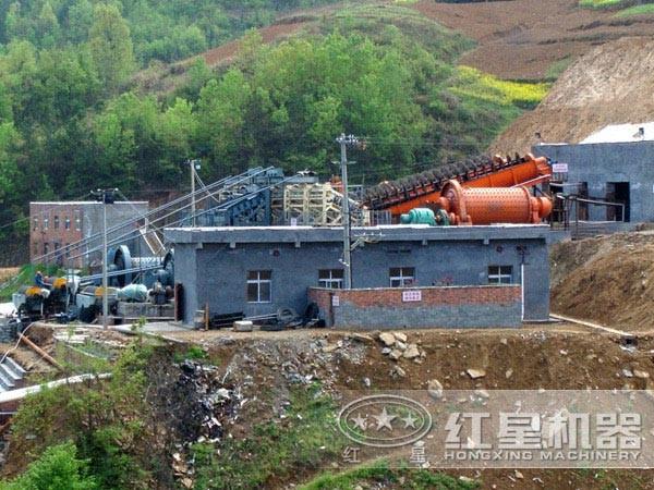 斑铜矿选矿生产线现场