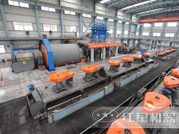 铝矿浮选生产线现场