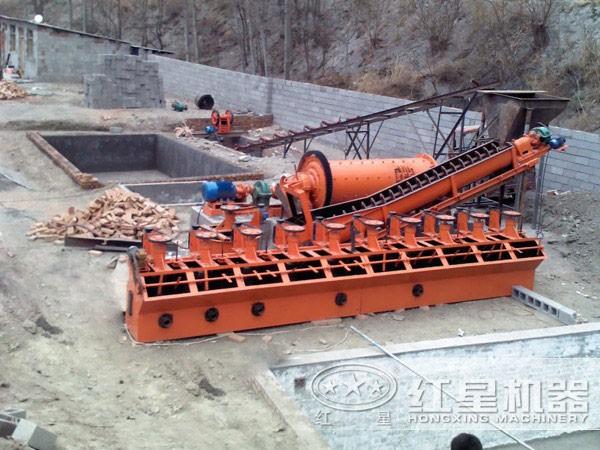 铜矿选矿生产线现场