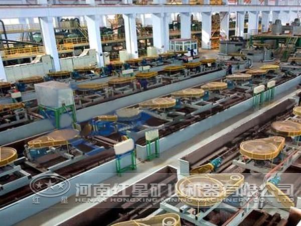 铜矿加工生产线产量