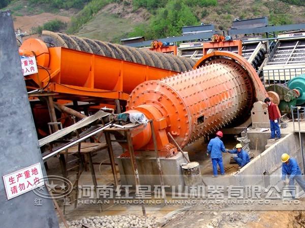 磨矿工艺生产现场