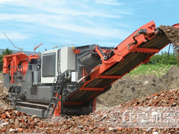 移动碎石机用于建筑垃圾