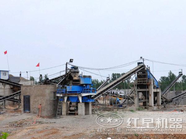 新型制砂机生产现场